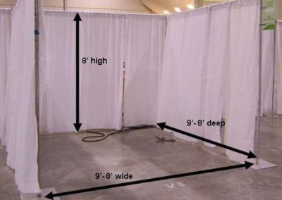 10×10 Pipe & Drape Continous Booths – White