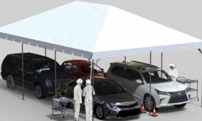 20×30 Drive Thru Testing Tent