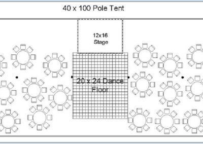 40'x100' Sample lay out tents