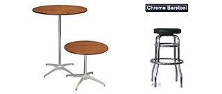 Cocktail/Pedestal wood Table