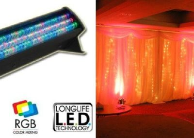 Floor Lighting to Illuminate Walls With Colors