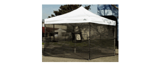 Sidewall Screen Mesh Walls for Food Booths  8' X 30' or 8' X 40'
