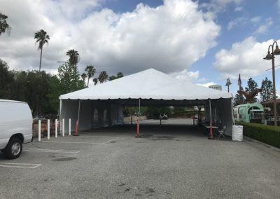 Testing Covid-19 Drive Thru Tent