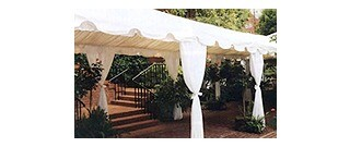 Drape To Cover Tent Legs