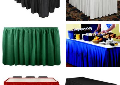 Linen Skirt tablecloth 29 inches Height x 13 feet Long.