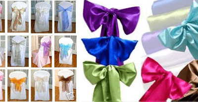 Chair Covers with Bow/Sashes