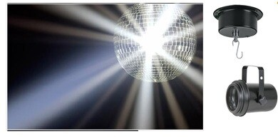 Fun Retro Disco Mirror Ball  to be hanging from ceiling