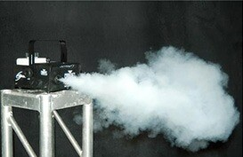 Fog machine to fill a venue within minutes