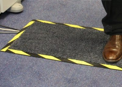 Rubber mat cable protectors used for pedestrian traffic 3' long