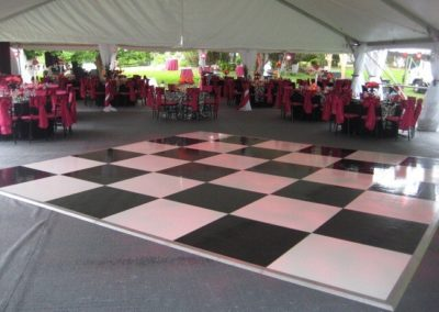 Portable Dance Floors for any surface (3'x4' sections) – B&W Checkerboard