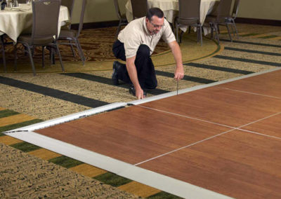 Portable Dance Floors for any surface  (4'x4' sections)