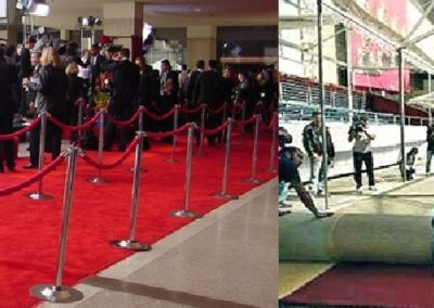 Red carpet is used for all types of events such as movie premiers, arrivals, corporate functions and party occasions.