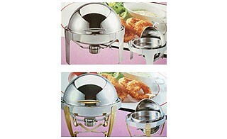 Chafing Dish Round Roll–Top, 7 Qt Full Pan