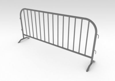 Steel Barricade 7' long for fencing  the 35Kw or 70Kw generator requested by the fire Marshall