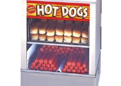 Hot Dog Steamer Display
