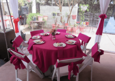"""SQUARE tablecloths for a 48"""" square table – Pink"""