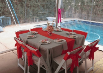"""SQUARE tablecloths for a 48"""" square table – Red"""