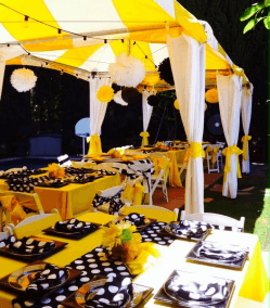 """SQUARE tablecloths for a 48"""" square table – Yellow"""