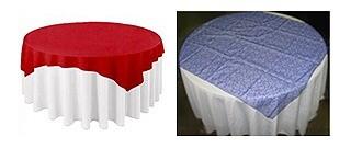 Overlay/Diamond tablecloths for round tables (Poly Gabardine or Satin)