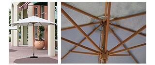 9Ft Market Umbrellas (Wood)