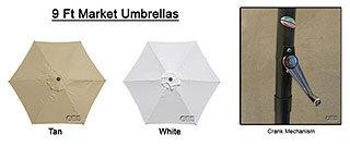 9Ft Market Umbrellas (Aluminum)