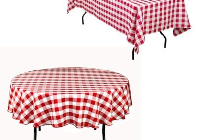 """""""Checkered"""" red/white tablecloth (Poly Gabardine)"""