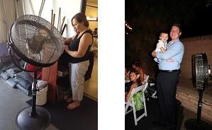 """Large Pedestal Cooler 24"""" Head Fan."""