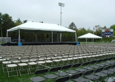 """20'W x 40'L x 2.6""""H stage with two stair units"""