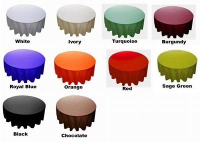 Round Tablecloths  (Poly Gabardine or Satin)