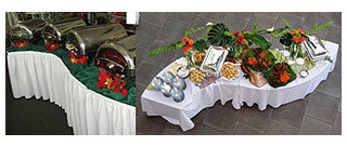 TABLECLOTHS FOR BUFFET, BANQUET & MEETING TABLES