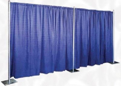 LINEN PARTITION, ROOM DIVIDER, BACKWALL OR SIDEWALL  Pipe & Drape  (8'High x 10'Long)