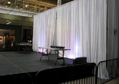Pipe & Drape  (8'High x 10'Long) – White Linen