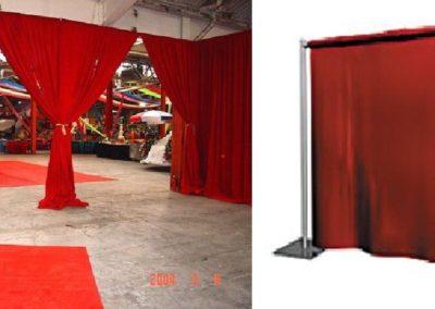 Pipe & Drape  (8'High x 10'Long) – Red Linen